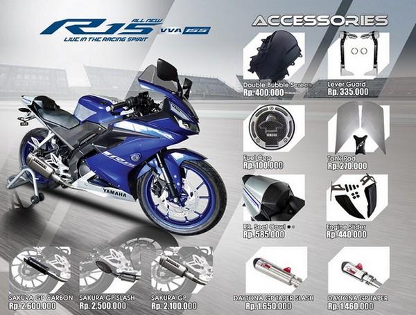 Harga Aksesoris All New Yamaha R15