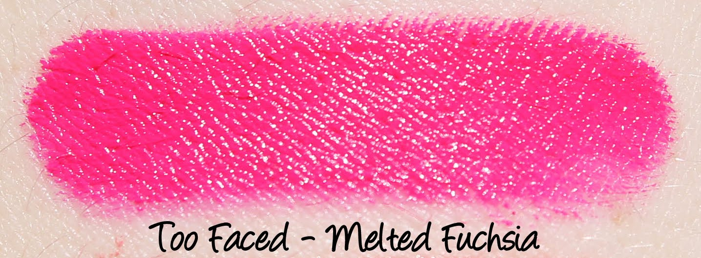 Too Faced Melted Fuchsia Swatches & Review