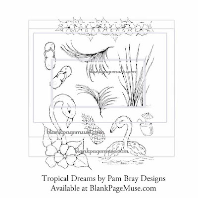 http://blankpagemuse.com/tropical-dreams-flowers-flamingo-umbrella-beverage-cup-red-rubber-stamp-set-pam-bray-designs-pb008/