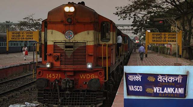 Goa to Velankanni by Train