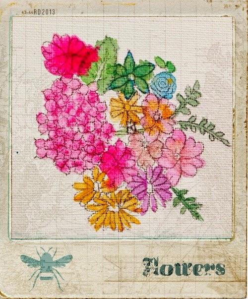 flores pintadas con acuarelas