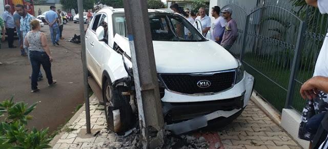 Campo Mourão: Mulher fica ferida em acidente de trânsito