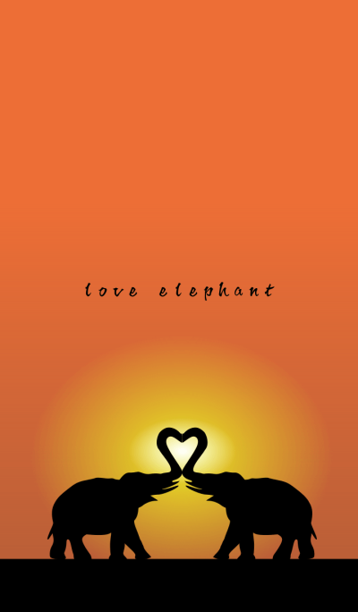 love elephant heart