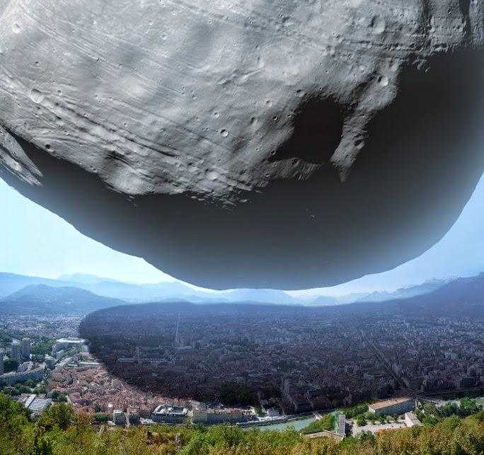 Asteroid Size Comparison to La - Pics about space