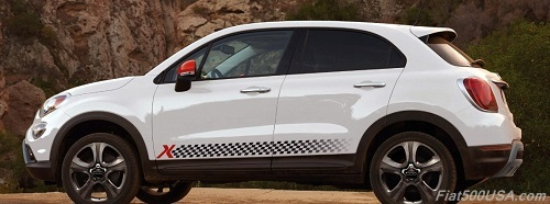 Fiat 500X with Mopar Stripes and Accessories