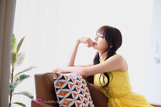 1 Han Ga Eun in Yellow- very cute asian girl - girlcute4u.blogspot.com
