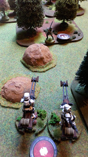 Luke faces down two speeder bikes