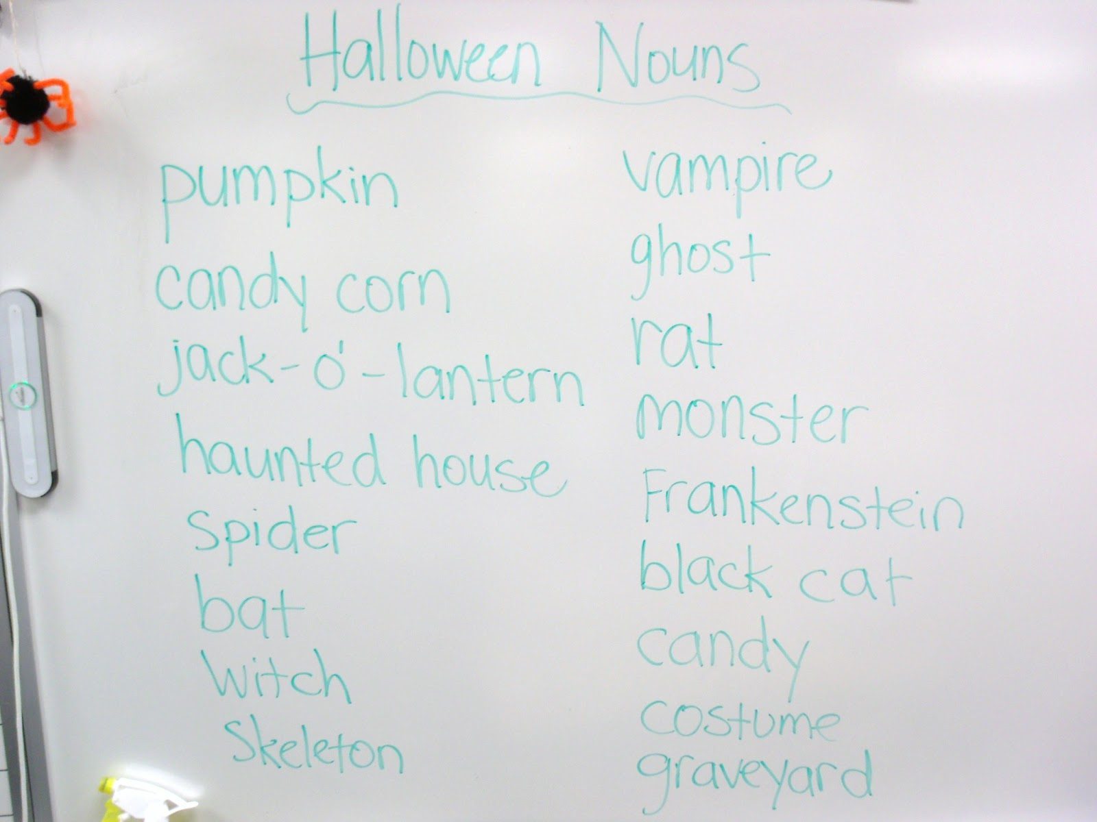 Halloween Adjectives A Quick And Easy Idea
