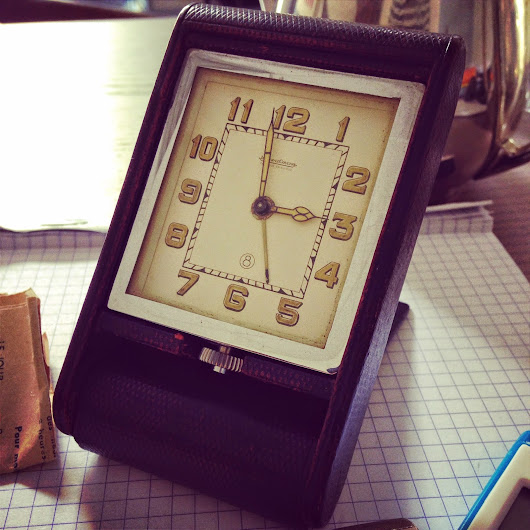 ART DECO JAEGER-LECOULTRE 8-DAY TRAVEL ALARM CLOCK, CIRCA 1940'S