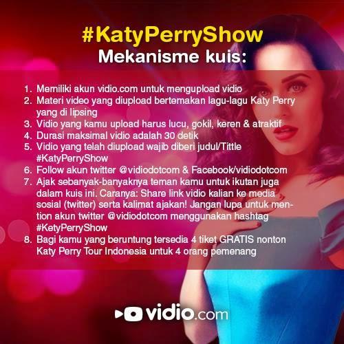 Kontes Vidio Lipsing Berhadiah 4 Tiket Katy Perry