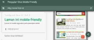 Pengujian situs mobilr friendly Google
