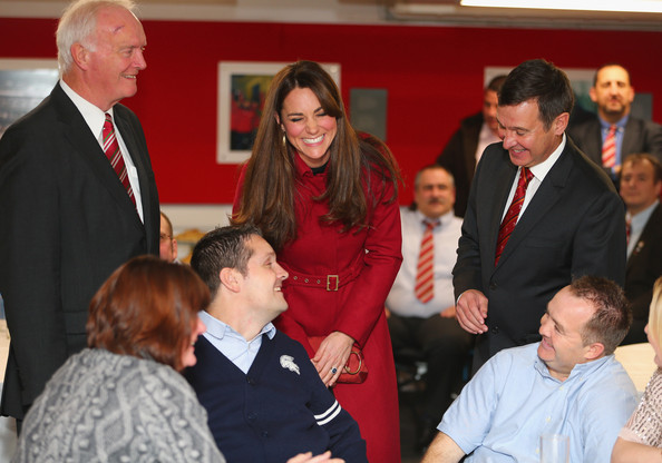 Catherine, Duchess of Cambridge and Prince William, Duke of Cambridge meet Daniel Carter of the All Blacks