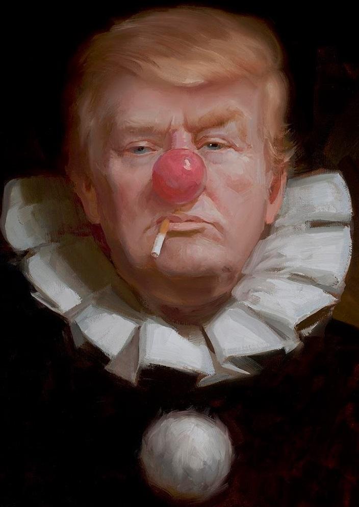 Clown Face Donald Trump