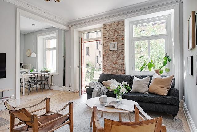 Stil scandinav într-un apartament de 61 m²