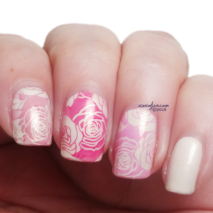 xoxoJen's swatch of Top Shelf Valentine stamping