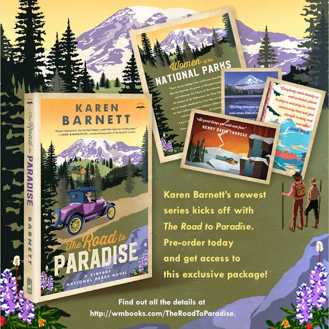 http://waterbrookmultnomah.com/pre-order-karen-barnetts-the-road-to-paradise-for-exclusive-extras/