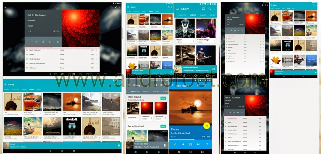 Top 10 music player fopr android smartphone www.androroot.com