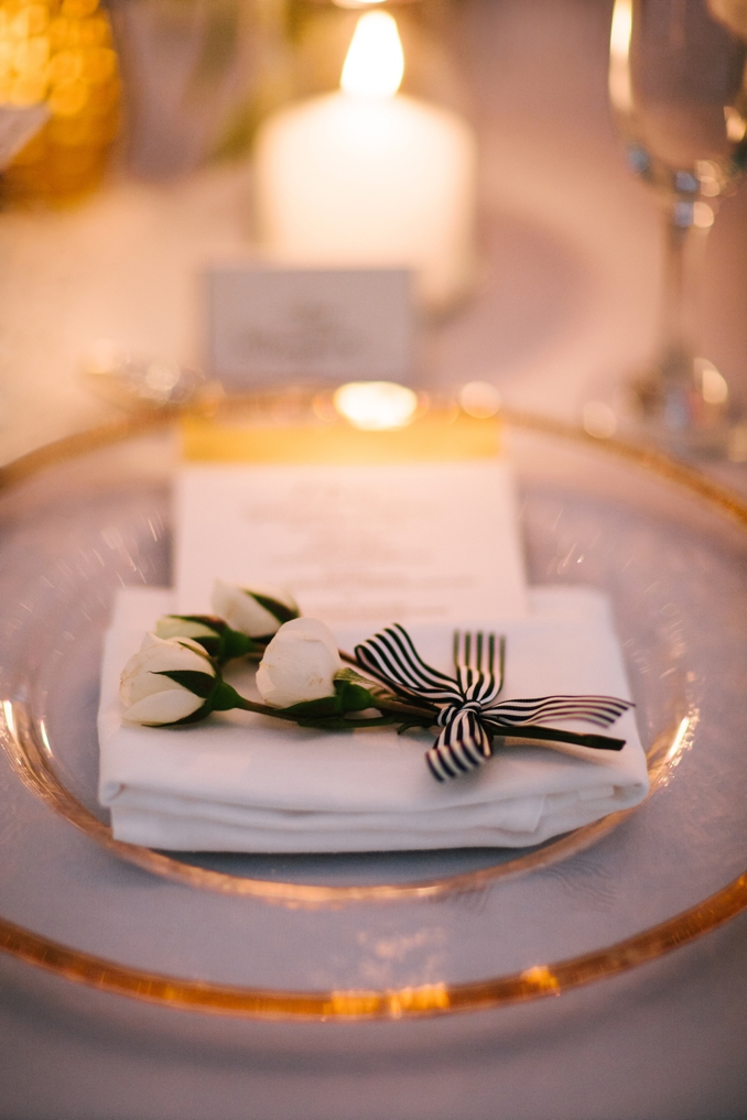 beautiful close up of wedding dinner table detail