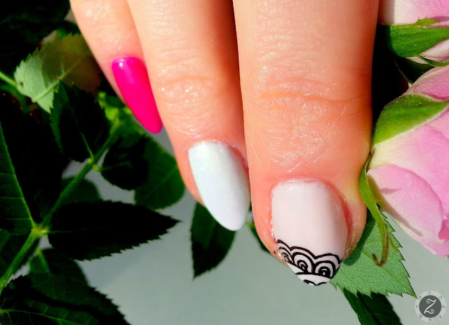 manicure z koronka