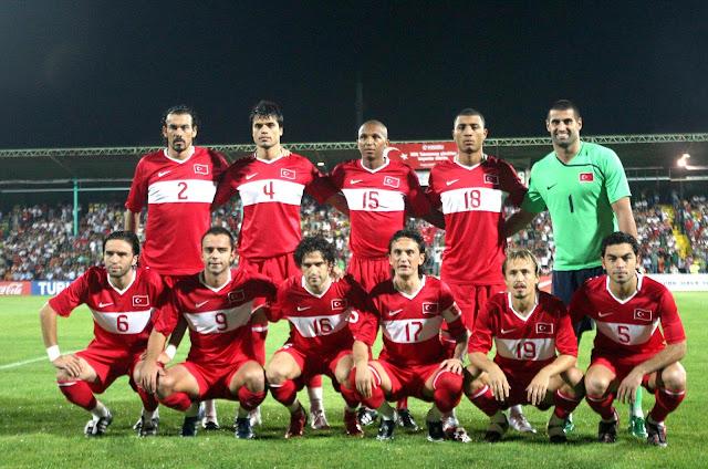 Formación de Turquía ante Chile, amistoso disputado el 20 de agosto de 2008
