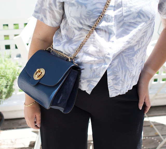 Chloe, Chloe Milly bag, navy, gold details, designer bag, ootd, wiwt, maternity fashion, pregnancy blog