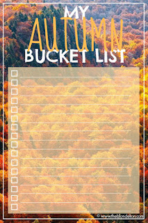 Autumn Bucket List Fall Things to do in Fall Free Download www.theblondelion.com