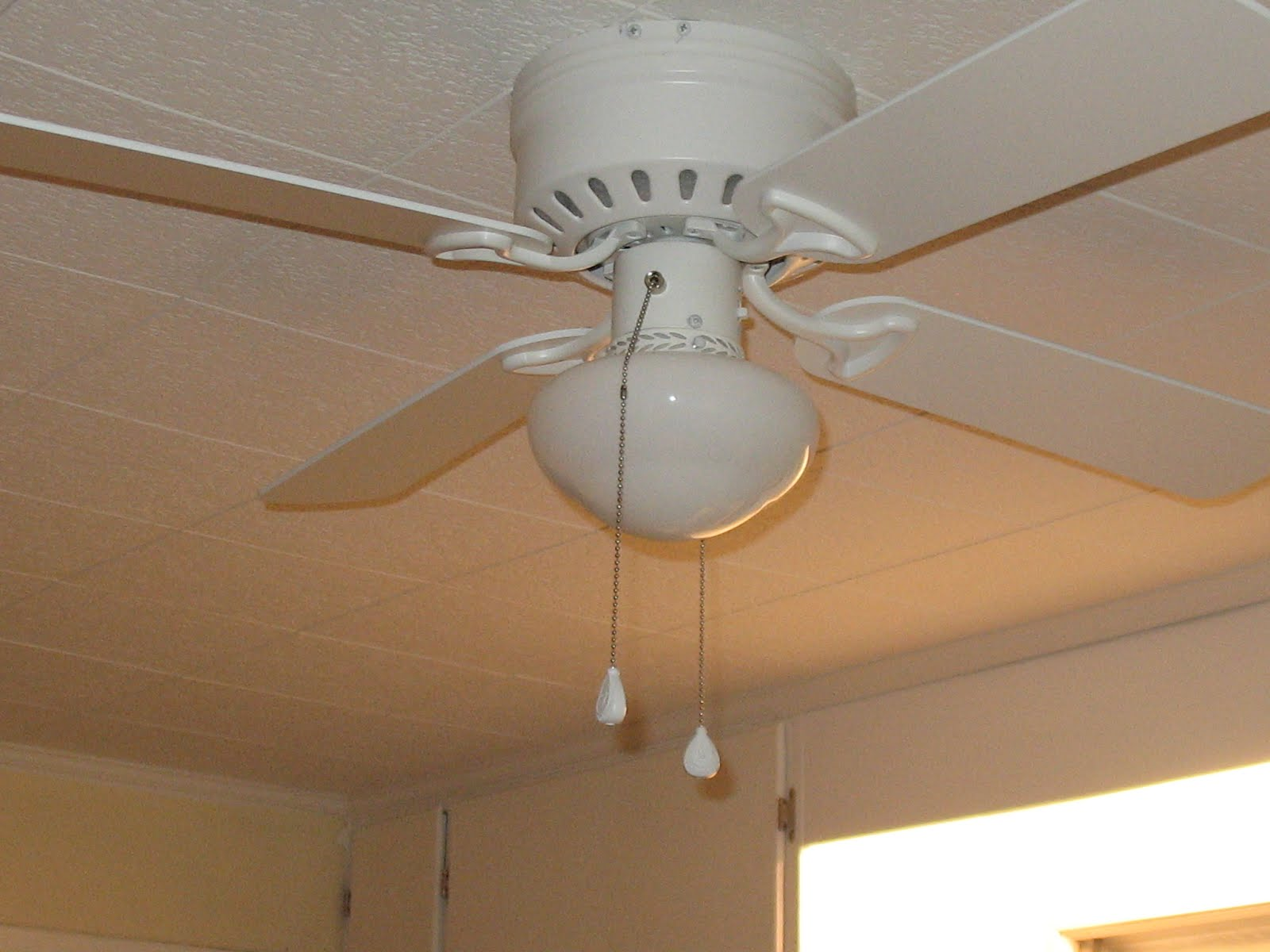 White Flower Ceiling Fan Hall Of Flowers New Kitchen Fan And Repaired Ceiling