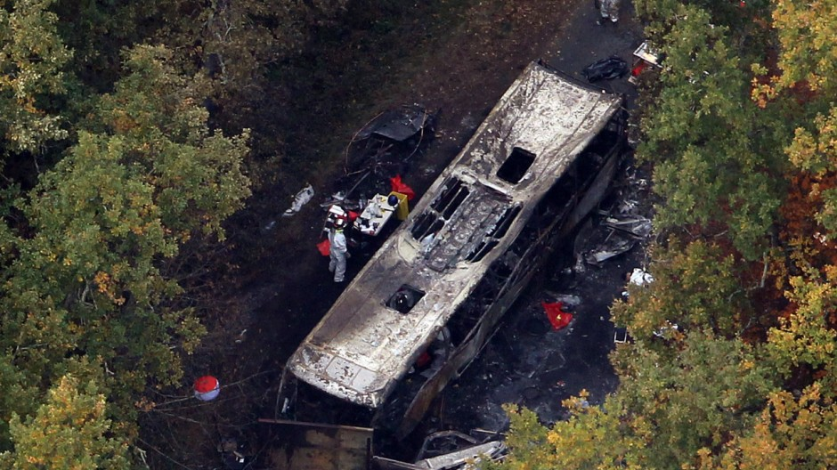 Busunfall Frankreich Heute