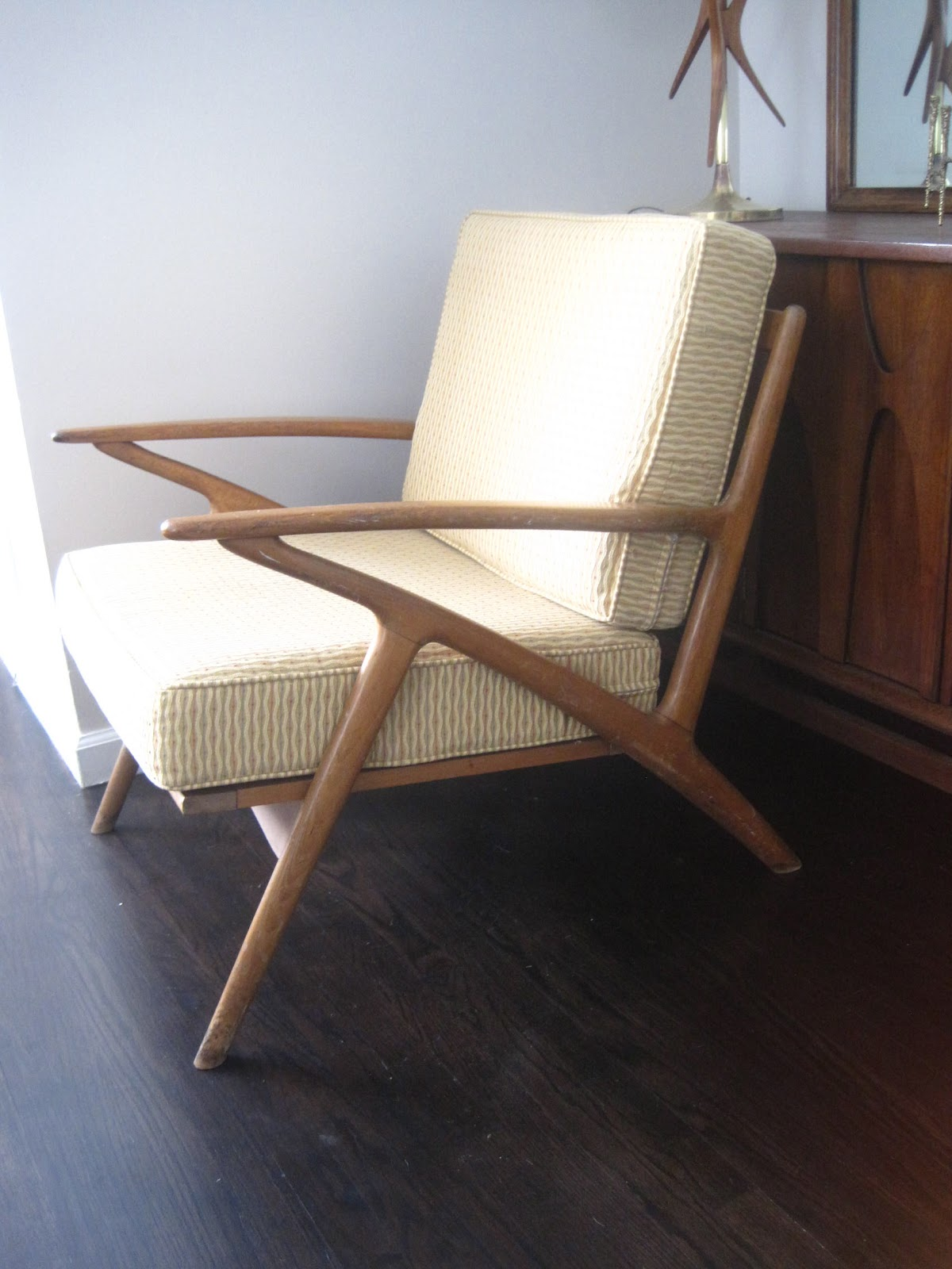 z chair mid century reclining rocking rhan vintage modern blog refinish