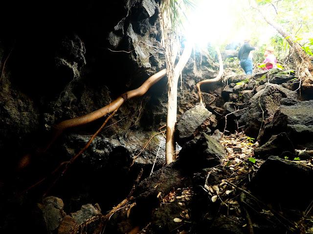 Cave exploring near Masaya Volcano, Granada, Nicaragua