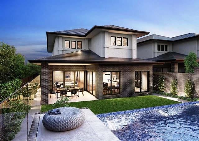 Desain Rumah Mewah 2 Lantai Modern dengan Kolam Renang & ⊕ 56+ desain rumah mewah 1 lantai \u0026 lantai modern minimalis terbaru