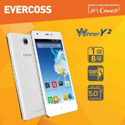 Harga dan Spek HP Evercoss A75G Winner Y2 Terbaru 2015
