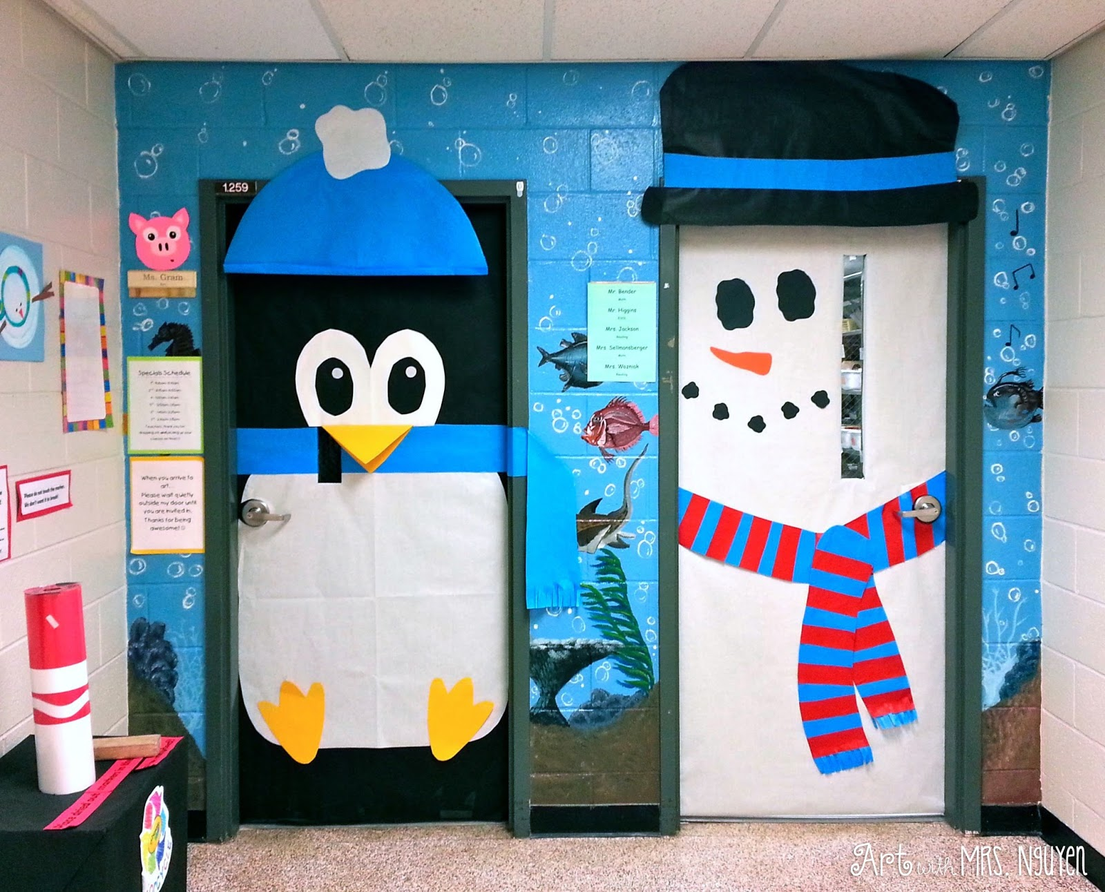 Holiday-decorated Classroom Doors! - Art with Mrs. Nguyen