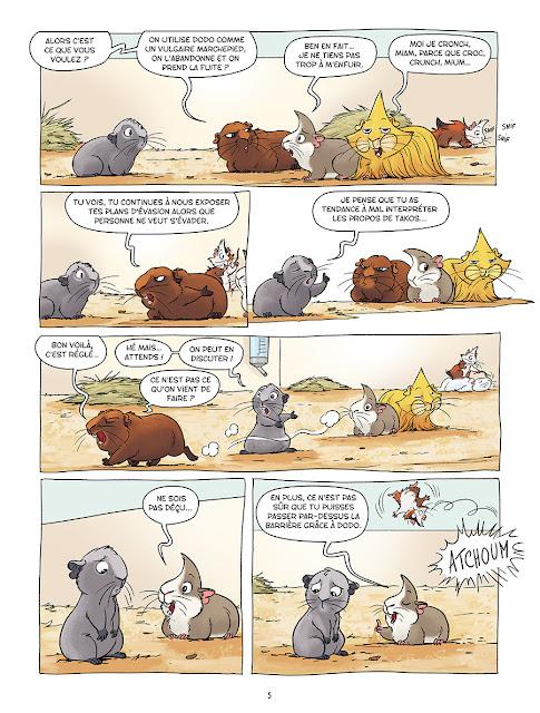 Les cochons dingues tome 2 aux editions Delcourt page 5