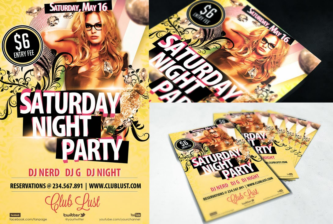 Free Flyer Night Party Template PSD