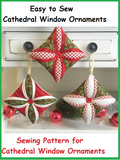 Easy to Sew Cathedral Window Ornaments pattern