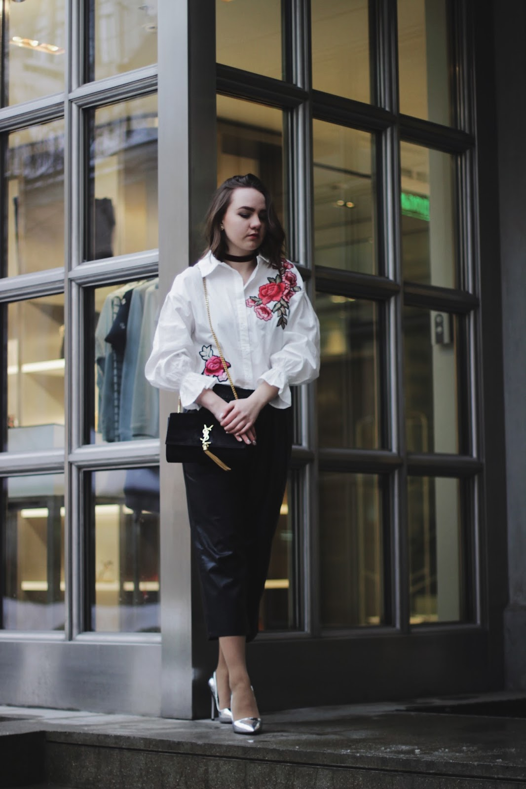 Embroidery Shirt | YSL Bag | Fashion Blogger
