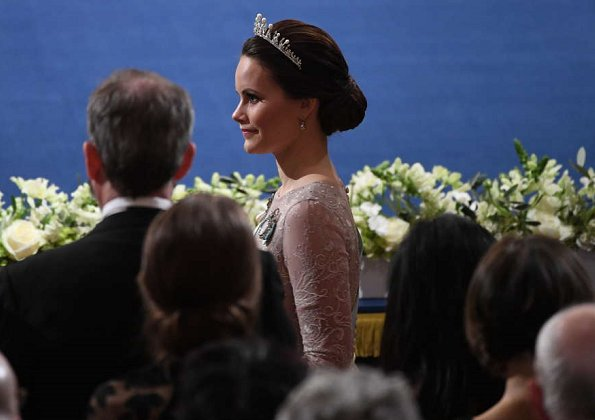 Queen Silvia, Crown Princess Victoria Princess Sofia, Princess Madeleine and Princess Christina at Nobel ceremony