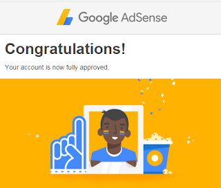 Google 's email confirming my blog approval