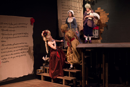 Park Krausen, Parris Sarter, Rachel Frawley, and Stacy Melich |  The Revolutionists | 7 Stages | Photo by Stungun Photography
