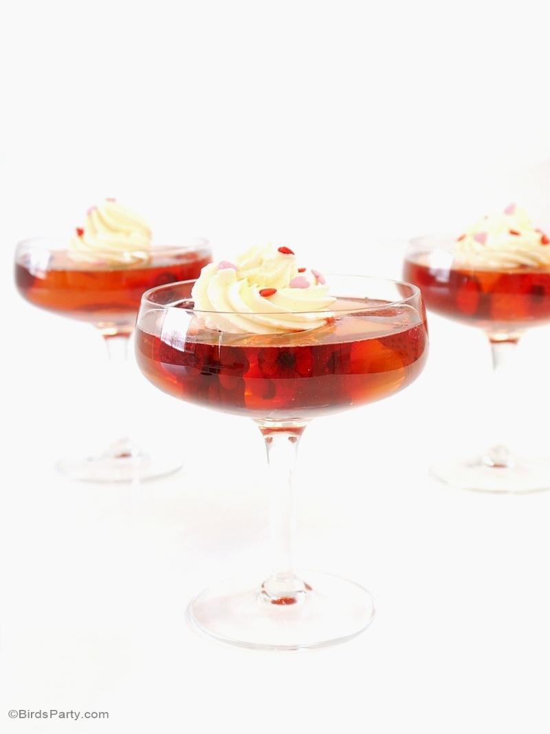 Recette: Gélatine au Champagne Rosé et aux Fruits Rouges - BirdsParty.fr