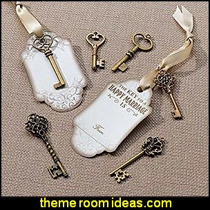 Antique vintage style Rose Key Tags