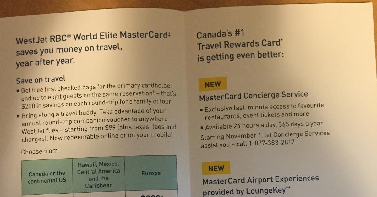 Rewards Canada: WestJet RBC World Elite MasterCard changes coming on
