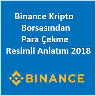 Binance Kripto Para Çekme Resimli Anlatım 2018