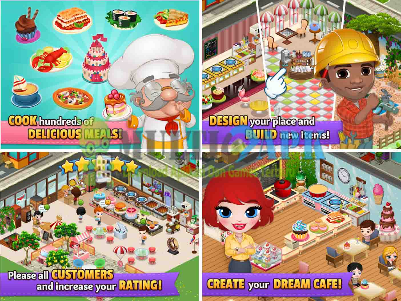 Cafeland World Kitchen Mod v1.1.5 (Mod Money)