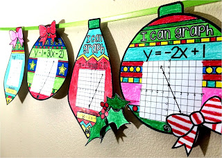 graphing linear equations ornament