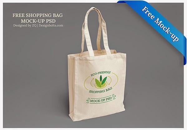 Shopping Bag Mock-up PSD