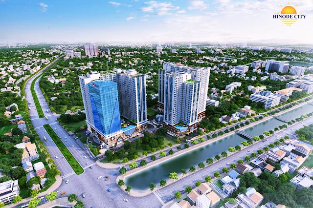 Phối cảnh tổ hợp chung cư Hinode City