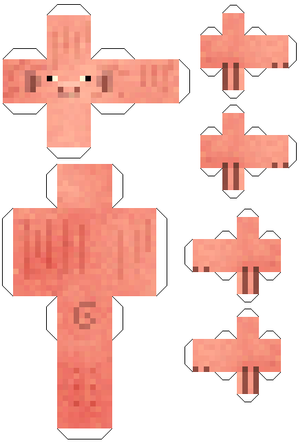 Make your own printable minecraft pig cut out for Minecraft cut out templates