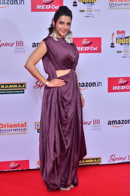 Mehrene Kaur at Mirchi Music Awards South 2017